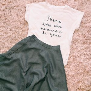 a new day Tops - Sequin Embroidered A New Day White Tee